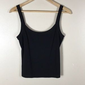 Authentic Valentino Black Wool Cropped Tank Medium